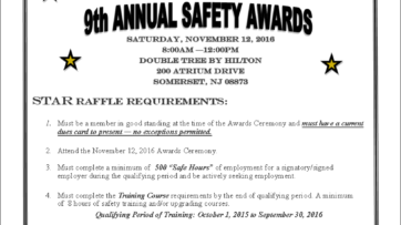 9th Annual Safety Awards Saturday, November 12, 2016
