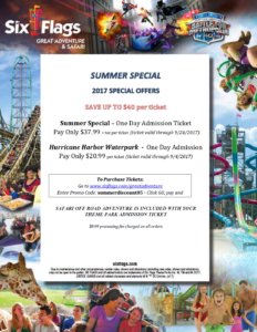 2017 Six Flags Summer Special